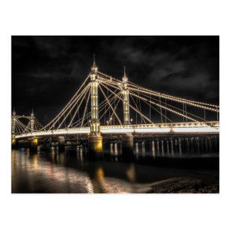 Carte Postale Le pont d'Albert croise la Tamise, Londres