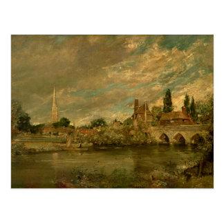 Carte Postale Le pont de Harnham et de cathédrale de Salisbury