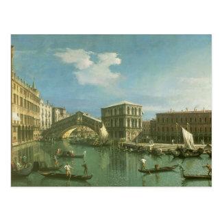 Carte Postale Le pont de Rialto, Venise