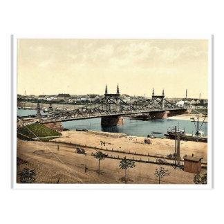 Carte Postale Le pont du Neckar, Mannheim, Baden, magnif de