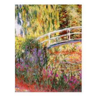 Carte Postale Le pont et les fleurs de Monet