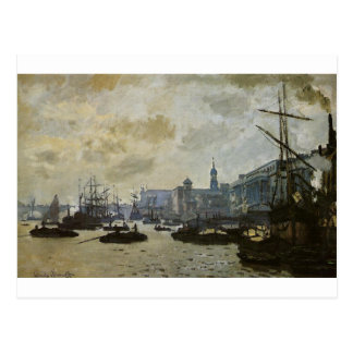 Carte Postale Le port de Londres par Claude Monet