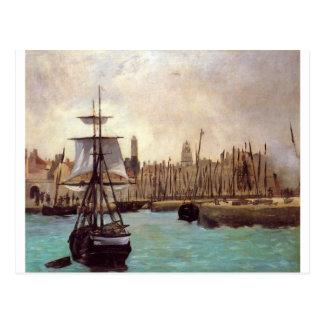 Carte Postale Le port du Bordeaux par Edouard Manet