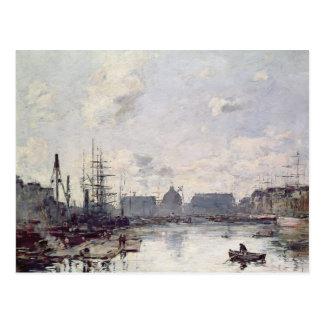 Carte Postale Le port du commerce, le Havre, 1892