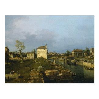 Carte Postale Le Porta Portello, Padoue par Canaletto