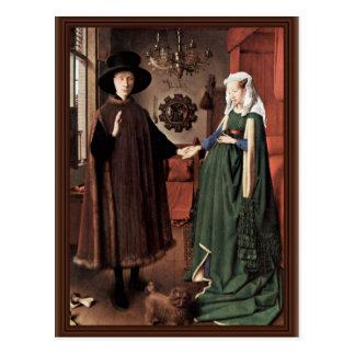 Carte Postale Le portrait d'Arnolfini le mariage d'Arnolfini par