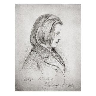 Carte Postale Le portrait de Johanes Brahms a vieilli vingt,