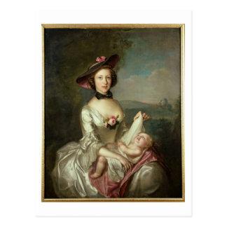 Carte Postale Le portrait de Madame, a indiqué pour être
