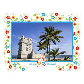 Carte Postale Le Portugal en photos - tour de Belém