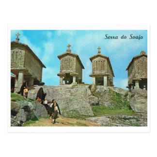 Carte Postale Le Portugal vintage, Serra font Soaja, cimetière,