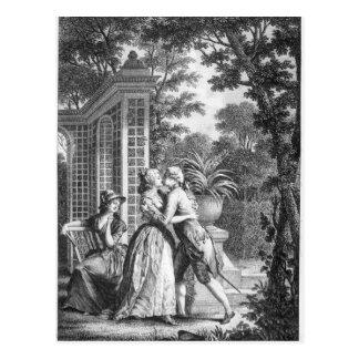 Carte Postale Le premier baiser de l'amour