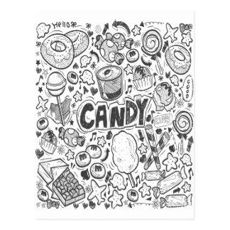 Carte Postale Le premier février - décorant du jour de sucrerie