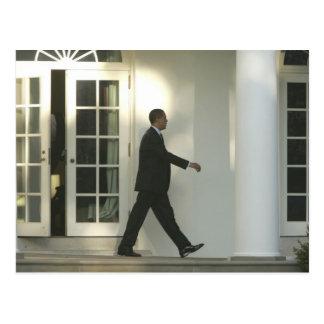 Carte Postale Le Président Barack dans la pensée profonde comme