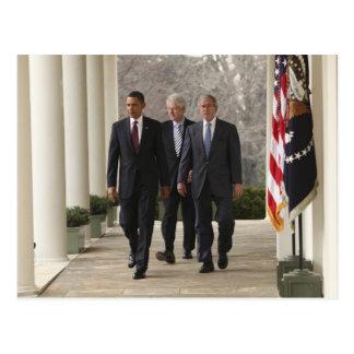 Carte Postale Le Président Barack Obama et anciens présidents