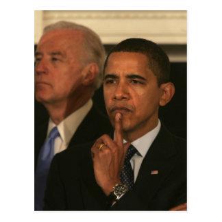 Carte Postale Le Président Barack Obama et vice-président