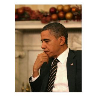 Carte Postale Le Président Barack Obama se reflète pendant qu'il
