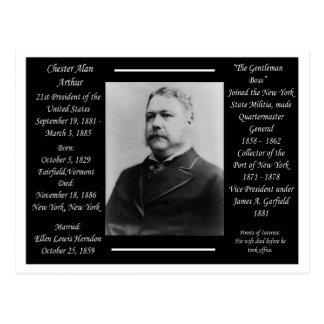 Carte Postale Le Président Chester Alan Arthur
