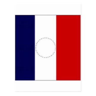 Carte Postale Le Président Flag de la France