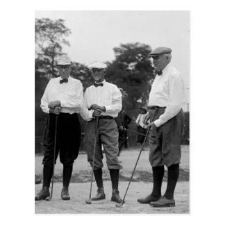 Carte Postale Le Président Harding Golf Foursome, les années