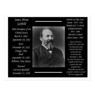 Carte Postale Le Président James Garfield