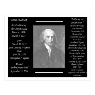 Carte Postale Le Président James Madison