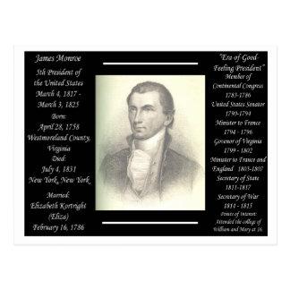 Carte Postale Le Président James Monroe