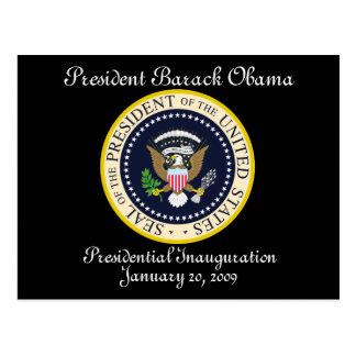 Carte Postale Le Président Obama Presidential Inauguration