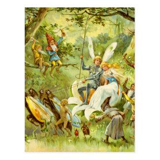 Carte Postale Le prince et le Thumbelina féeriques