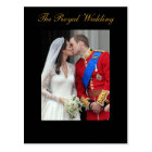 Carte Postale Le prince royal William Kate Middleton de mariage
