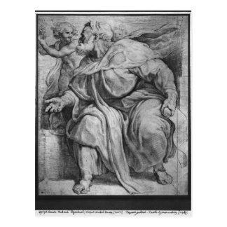Carte Postale Le prophète Ezekiel, après Michangelo Buonarroti