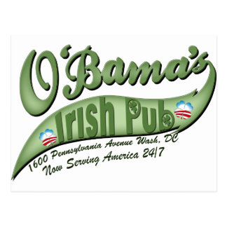 Carte Postale Le Pub irlandais d'O'bama