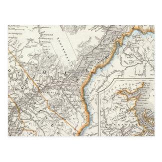 Carte Postale Le Québec, la Nouvelle-Écosse, Nouveau Brunswick