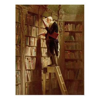 Carte Postale Le rat de bibliothèque