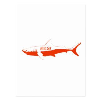 Carte Postale Le requin, ainsi m'étreignent !