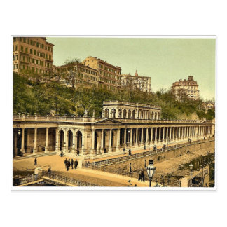 Carte Postale Le ressort de Muhl, Carlsbad, Bohême,