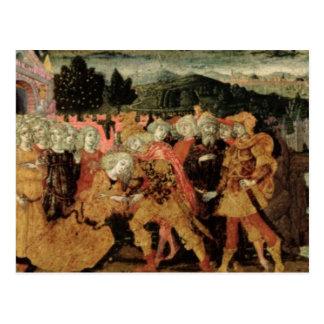 Carte Postale Le retour d'Ulysse, panneau de cassone, Sienese