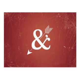 Carte Postale Le rétro amour de flèche vintage de cupidon se