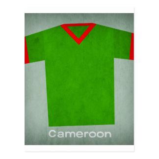 Carte Postale Le rétro football Jersey Cameroun