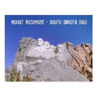 Carte Postale Le rétro mont Rushmore - le Dakota du Sud 1963