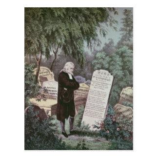 Carte Postale Le Rev. John Wesley visitant la tombe de sa mère