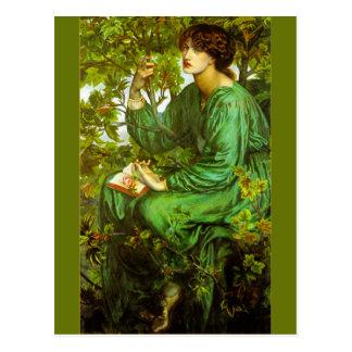 Carte Postale Le rêve de jour par Dante Gabriel Rossetti
