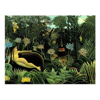 Carte Postale Le rêveur de Henri Rousseau (1910)