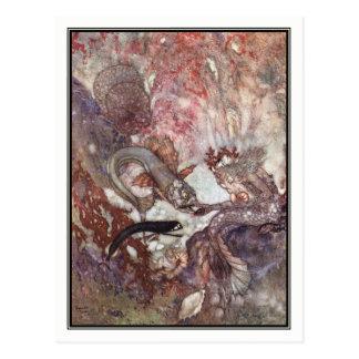 Carte Postale Le roi de triton par Edmund Dulac