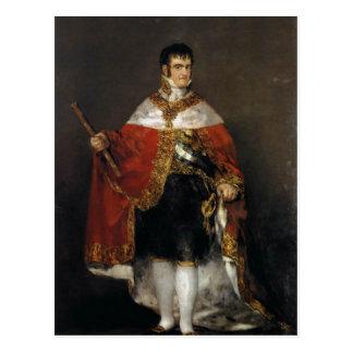 Carte Postale Le Roi Ferdinand VII de l'Espagne dans des ses