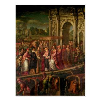Carte Postale Le Roi Henri III de la France visitant Venise