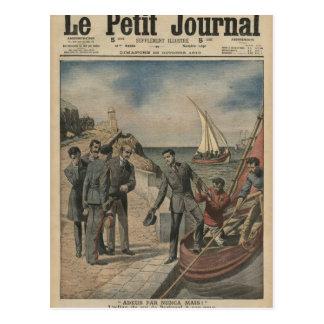 Carte Postale Le Roi Manuel II du Portugal offrant l'adieu