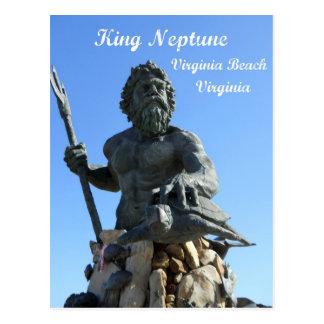 Carte Postale Le Roi Neptune, Virginia Beach, la Virginie