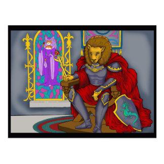 Carte Postale Le Roi Postcard de lion