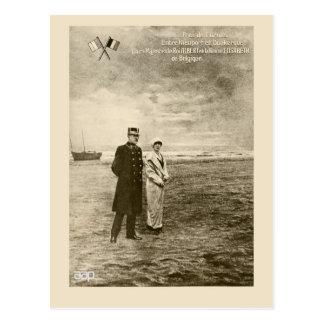 Carte Postale Le Roi vintage Albert, la Reine Elisabeth de