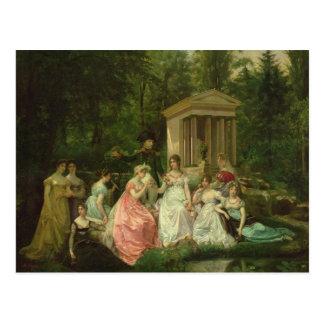 Carte Postale Le rose de Malmaison, c.1867